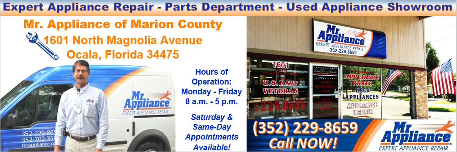 Mr. Appliance Used Appliances Parts Service Repair Ocala